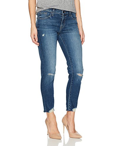 J Brand Jeans Women's Sadey Slim Straight, revoke Destruct, 25 by J Brand Jeans