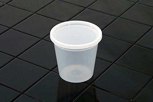 Pactiv YL2524 24 oz Deli Container Cup Combo Pack with Plastic Lid44; Natural - Case of 240