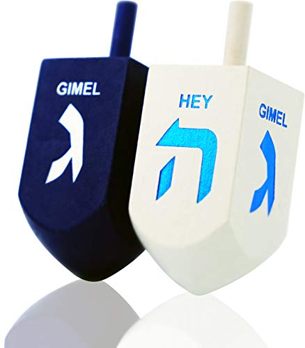 Lets-Play-Dreidel-The-Hanukkah-Game-2-Extra-Large-Blue-White-Wood-Dreidels-Instructions-Included-D10