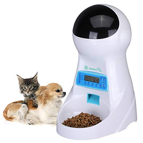 BELOPEZZ 3 Liter Smart Pet Automatic Feeders with Timer Programmable Up To 4 Meals a Day for Dogs and Cats