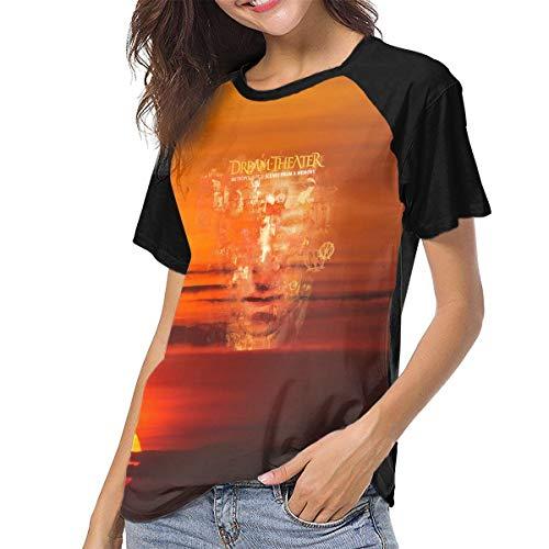 MatthewConnersw Women Dream Theater Scenes from A Memory Music Band Baseball Raglan TshirtsClassic Tee Shirt S Gift Black ()
