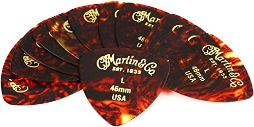 (Martin Faux-tortoise 346#2 Guitar Picks 12 Pack - 0.46mm)