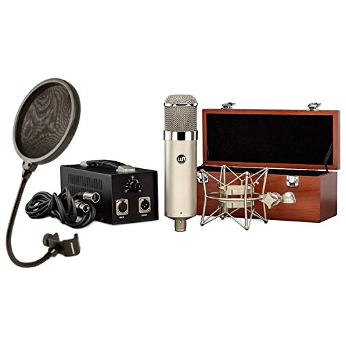 Warm Audio WA-47 Tube LDC Microphone w/Geartree Cloth and Pop - Pattern Vacuum Tube Microphone Condenser