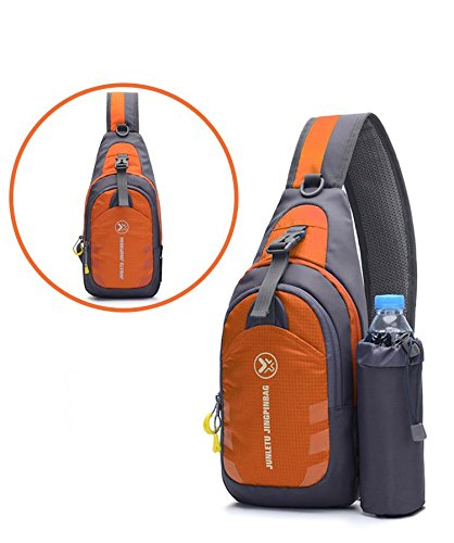 backpack Cover on cloth Ride nylon pack pack Bags rock Run Messenger foot Soft Shoulder bag Orange climbing movement Chest Chest xwnpxXr