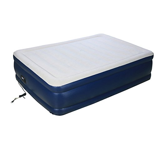 Airtek 2ABF04005 Deluxe Full-size Raised Flocked Air Bed With Built-in Pump, 600 Lb. Weight Limit, White/Blue by Airtek (Image #3)