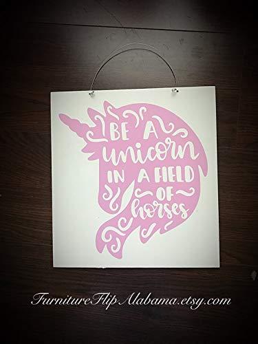 istiWood Cartel de Unicornio de Madera con diseño de ...
