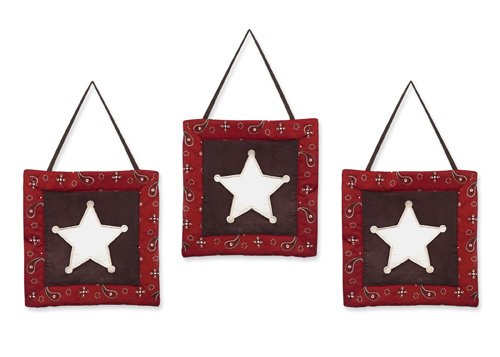 Sweet Jojo Designs Wild West Cowboy Western Wall Hanging Accessories ()