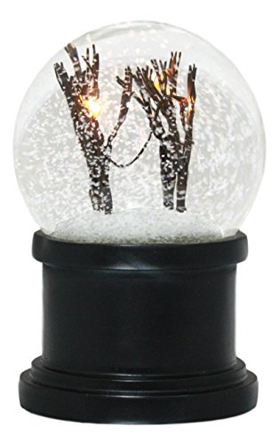 Ebros Snowy And Windy Christmas Barren Winter Trees Tundra Forest LED Light Up Snow Flakes Water Globe With Internal Fan Collectible Figurine 6''Tall by Ebros Gift
