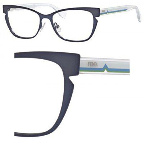 Fendi Montures de lunettes 0135 Pour Femme Black / Crystal N8X: Blue / Crystal