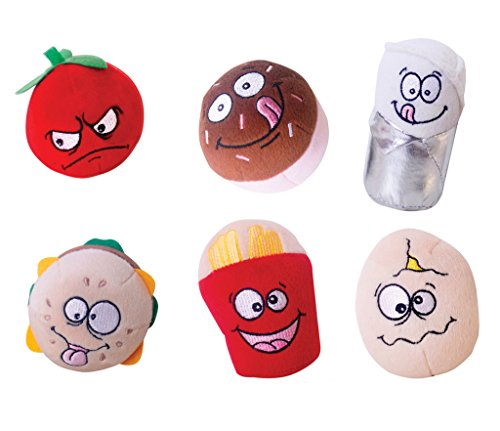 Price comparison product image Just For Laughs Food Fight! Slam Jammers 6-Pack (Tommy Tomato, Patty, Benito Burrito, Eggbert, Sprinkles, Frenchy)