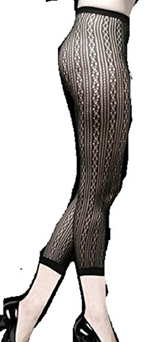 Footless Infinity Fashion Designed Fish Net Tights (Free Size, Black)