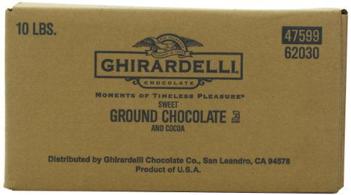 Ghirardelli Chocolate Sweet Ground Chocolate & Cocoa Beverage Mix, 10-Pound Package - Ghirardelli Chocolate Dark Chocolate