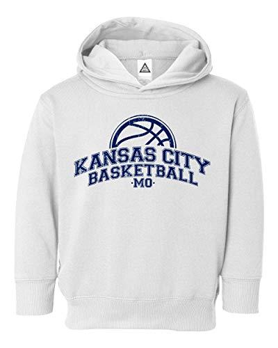 Sheki Apparel Basketball Fans Kansas City Town Pride Little Kids Pullover Hoodie Toddler Sweatshirt (White,2T)