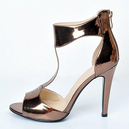 Hochzeitsfest Ferse Damen Faschion Gericht Kleid T Kolnoo Schuhe Stilett Bügel Patent für D'Orsay tdq5tP1n
