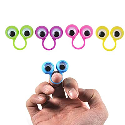 iMagitek Google Eye Finger Puppet Oobi Eye Ring Toys Eyeball Ring Eye Ring Toys Children's Toys for Kids Party Favors - 30 Pack: Toys & Games