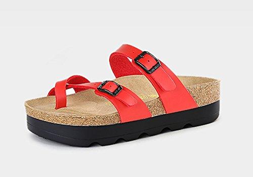 Slip on Red Slipper Cork Sandal Dilize Strappy Women's OxtFBF