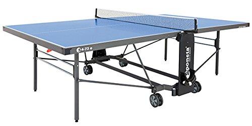 Sponeta Tischtennisplatte S 4-73 e blau Outdoor Untergestell schwarzgrau
