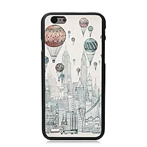 For iPhone 6 4.7 Case, Fashion City and Balloon Pattern Protective Hard Phone Cover Skin Case For iPhone 6 4.7 +Screen Protector