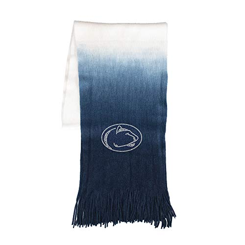 Littlearth - LIWXY NCAA Penn State Nittany Lions Womens Ncaancaa Dip Dye Scarf, Navy, 76