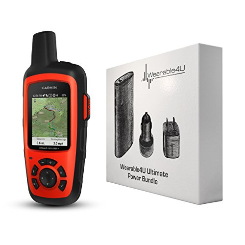 Garmin InReach Explorer+ Handheld Satellite Communicator with GPS Navigation, Maps, and Sensors...