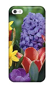 Durable Defender Case For Iphone 5/5s Tpu Cover(earth Flower)