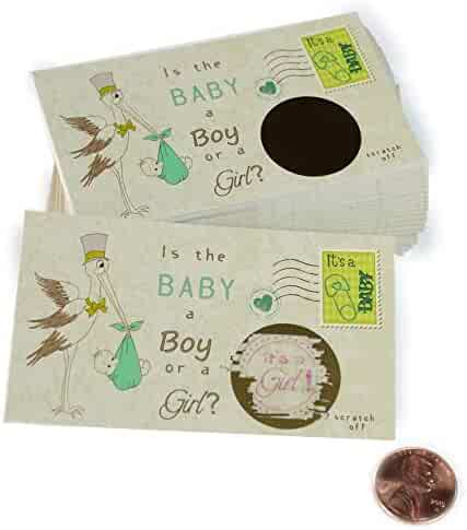 Stork - It's a Girl! - Gender Reveal Scratch Off Cards - 25 pack - My Scratch Offs