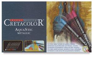 Metallic Pastels Oil (Cretacolor AquaStic Oil Pastel Sets metallic colors set of 10)