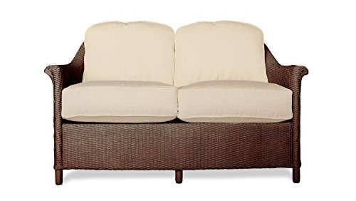 Lloyd Flanders 46350-070-903 Crofton Collection Love Seat in Chocolate Loom Finish, Dupione Papaya