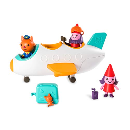 Sago Mini, Jinja's Jet Plane, with Figures and Accessories, for Kids Ages 3 and Up
