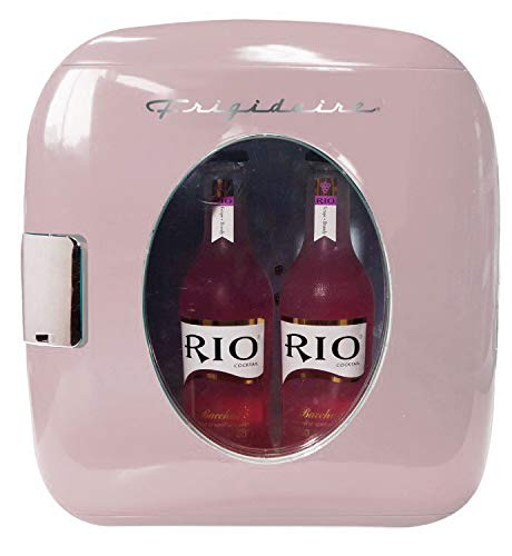 Frigidaire EFMIS462-PINK 12 Can Retro Mini Portable Personal Fridge/Cooler for Home, Office or Dorm, Pink