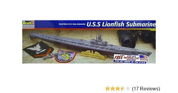 Amazon Com Revell 1 180 Uss Lionfish Submarine Toys Games