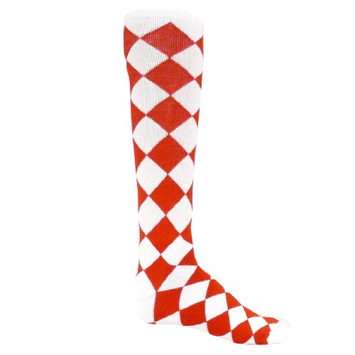 Red Lion Jester Acrylic Athletic Socks ( White / Red - Small )