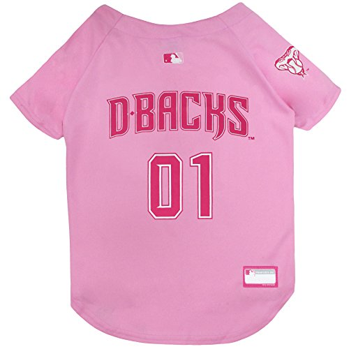 MLB Jersey for Dogs - Arizona Diamondbacks Pink Jersey, Medium. Cute Pink Outfit for -