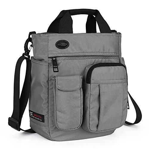 AMJ Small Shoulder Messenger Bag for Men & Women Multifunctional Crossbody Bag Business Laptop Bag for Travel/School Grey