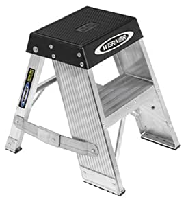 Werner Ssa02 375 Pound Duty Rating Aluminum Step Stand 2