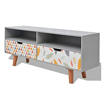 """K&A Company Entertainment Center & TV Stand, TV Cabinet MDF 47.2""""x11.8""""x19.7"""" Gray"""