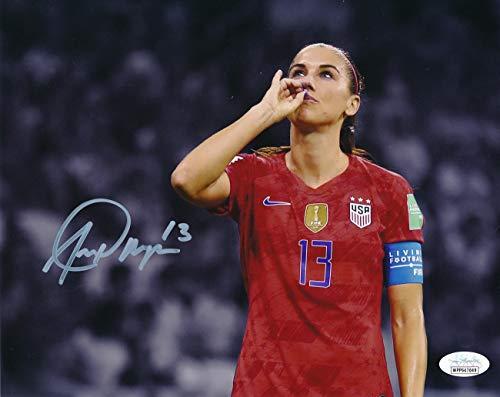 Alex Morgan US Women's Soccer Tea Sip Signed/Autographed 8x10 Photo JSA 146915