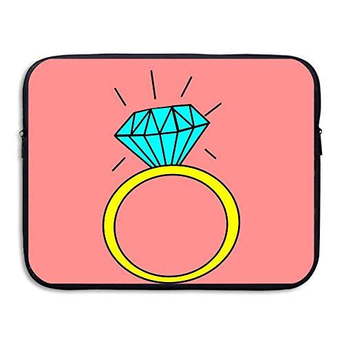 (Water-Resistant Laptop Bags Diamonds Ring Ultrabook Briefcase Sleeve Case Bags)