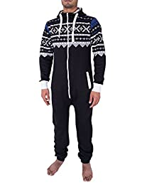 7fa8f919d2c Noroze Mens Camo Camouflage Onesie Hooded Playsuit All in One Piece Pyjama  Jumpsuit