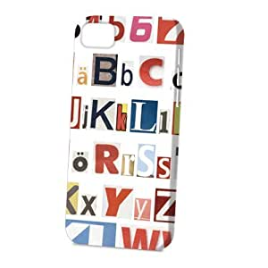 Case Fun Apple iPhone 5C Case - Vogue Version - 3D Full Wrap - Alphabet