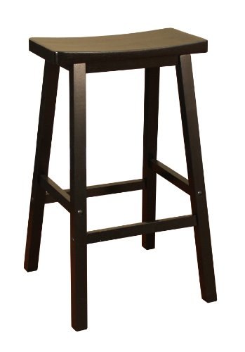 american heritage billiards wood saddle counter height stool