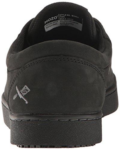 Sneaker In Pelle Antiscivolo Nero Mozo Mens Finn