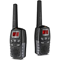 Flexzion Handheld Walkie Talkie - 22 Channel GMRS/PMR/FRS 2 Way Radio Transceiver 2 Miles (Up to 3 Miles) Range UHF Call Wireless Phone Interphone Toy for Outdoor Camping Hiking Black (1 Pair)