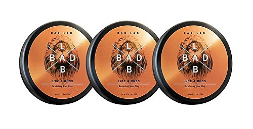 Bad Lab Like A Boss, Authentic Stylish Hair Clay Gift Set for Men (1.76 oz) Strong Hold and Matte Finish, Gift Pack of 3, Mens Bath Sets