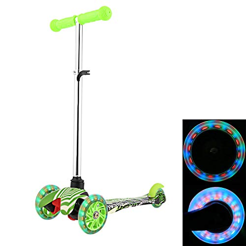 077dd8fb1edb ANCHEER Scooter for Kids Toddler| 3 Wheel Mini Kick Scooter with LED Light  Up Wheels and Adjustable Handlebar for Children Boys Girls Age 2-8