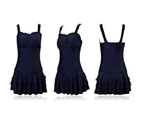 ZOKE Women's Attractive Swimwear Swimming Costume (Dark blue, XXXX-Large)