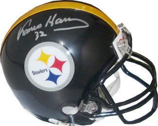 8b70c8e19 Amazon.com  Franco Harris Signed Autograph Pittsburgh Steelers Riddell Mini  Helmet  32 Black facemask - silver Signature  Sports Collectibles