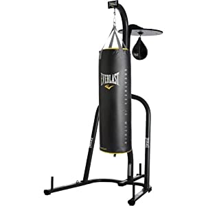 Amazon Com Everlast Dual Station Punching Bag Stand W