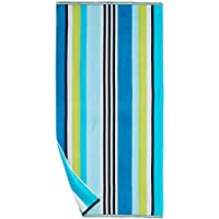 The Big One Absorbent Cotton Striped Beach Towel (Multiple Colors)