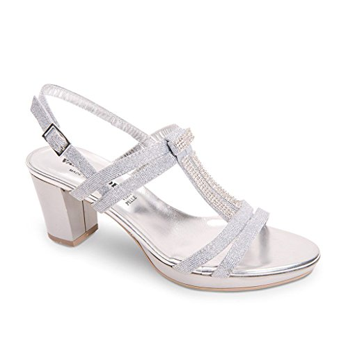 VALLEVERDE Women Shoes with Strap Silver aB5c0k